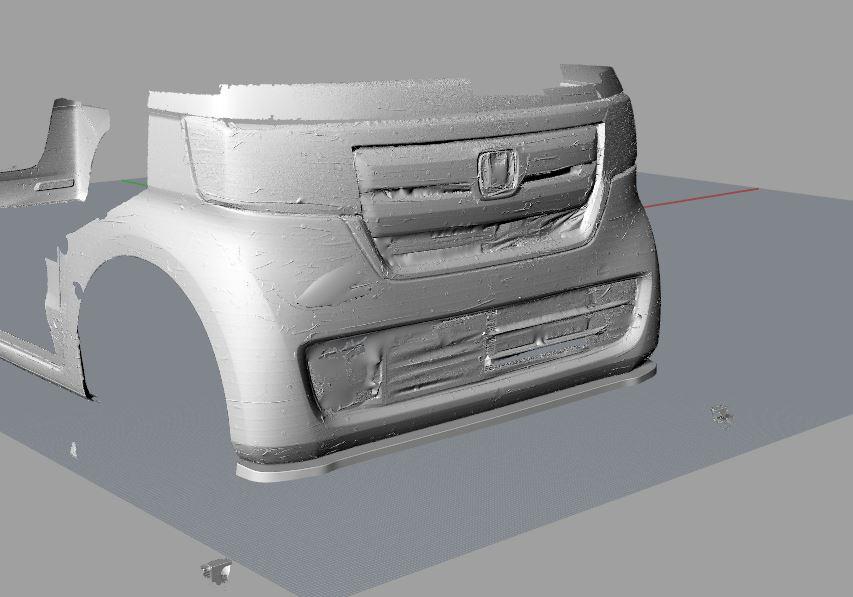 ホンダ 新型Nbox フロントアンダーフラップ モデリング